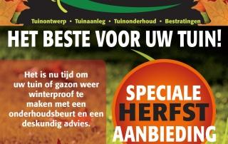 HERFSTACTIE Flokstra Hoveniers Tuinontwerp Tuinaanleg Tuinonderhoud Sierbestrating Houtbouw Hoveniersbedrijf